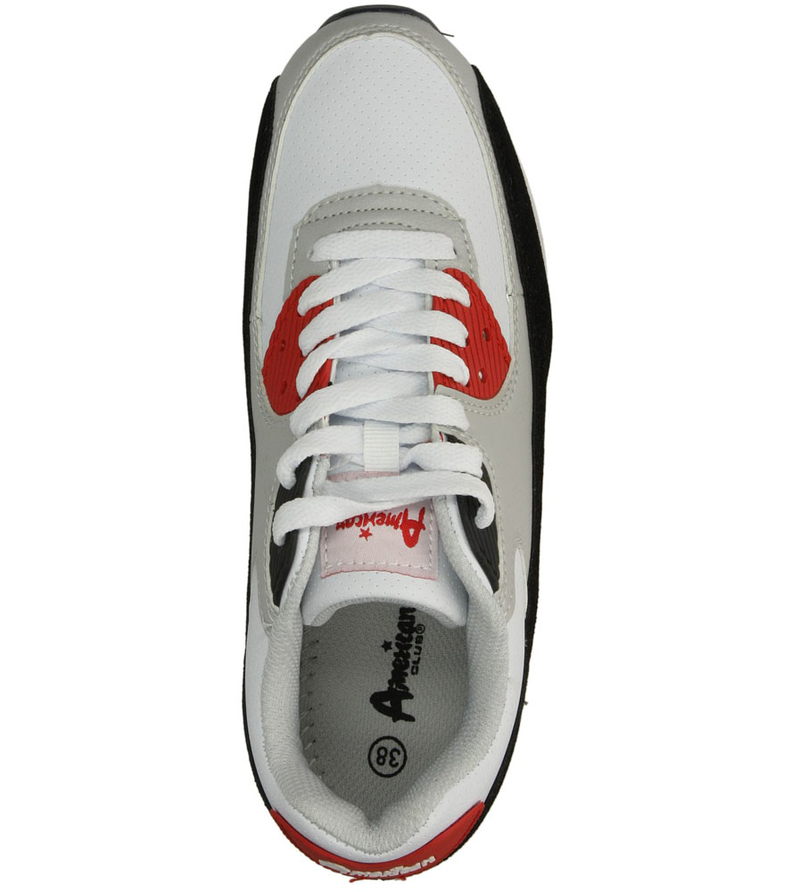 Damskie SPORTOWE AMERICAN 7205-2 biały;czerwony;