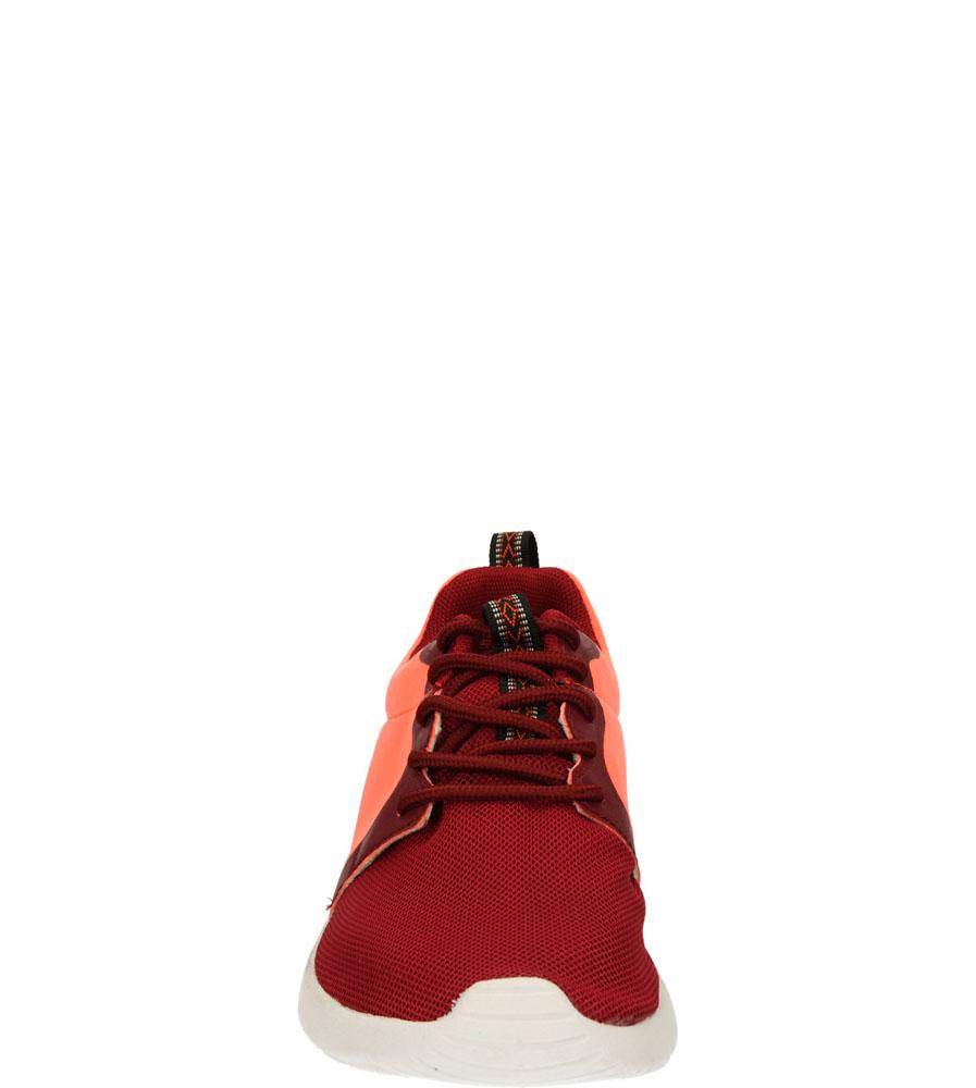 Damskie SPORTOWE CASU 140901 bordowy;czerwony;