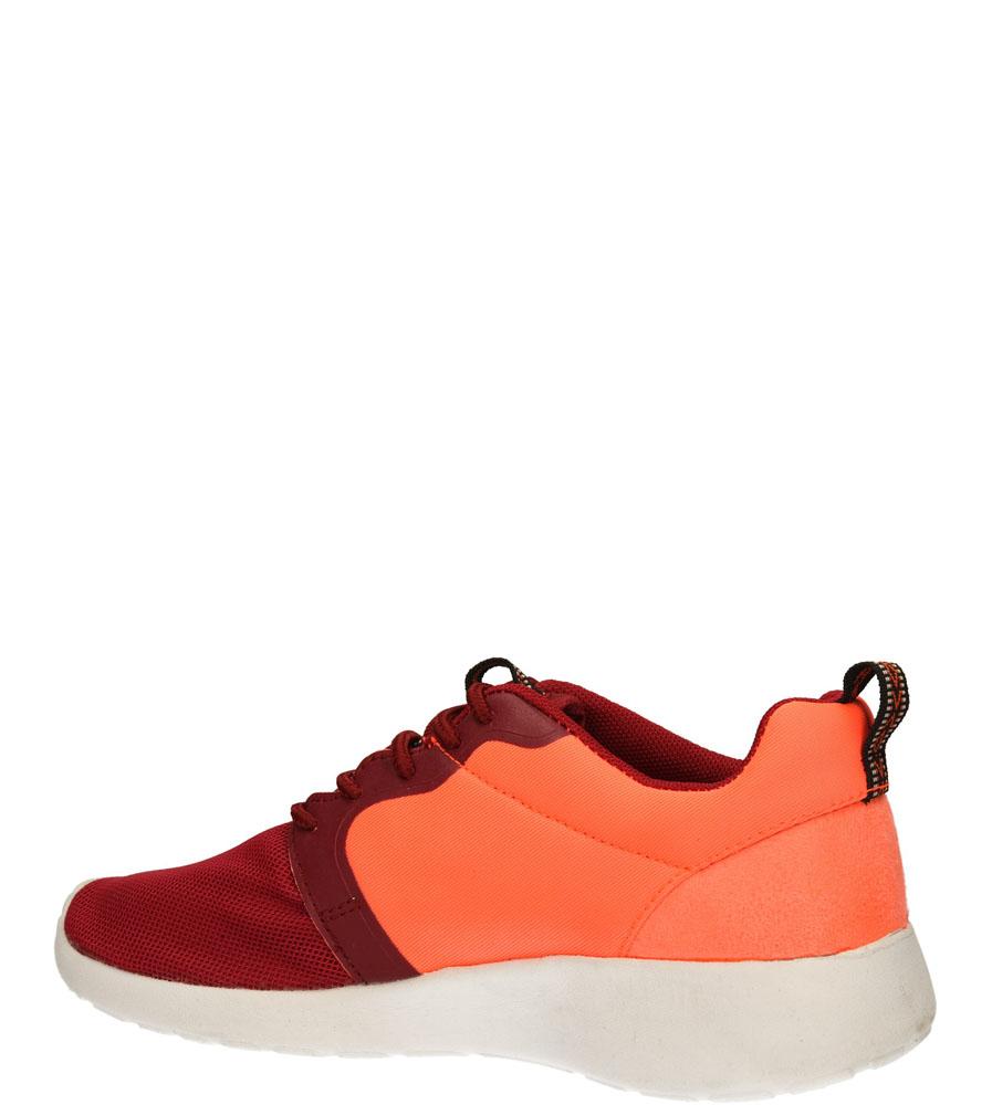 SPORTOWE CASU 140901 kolor bordowy, koralowy