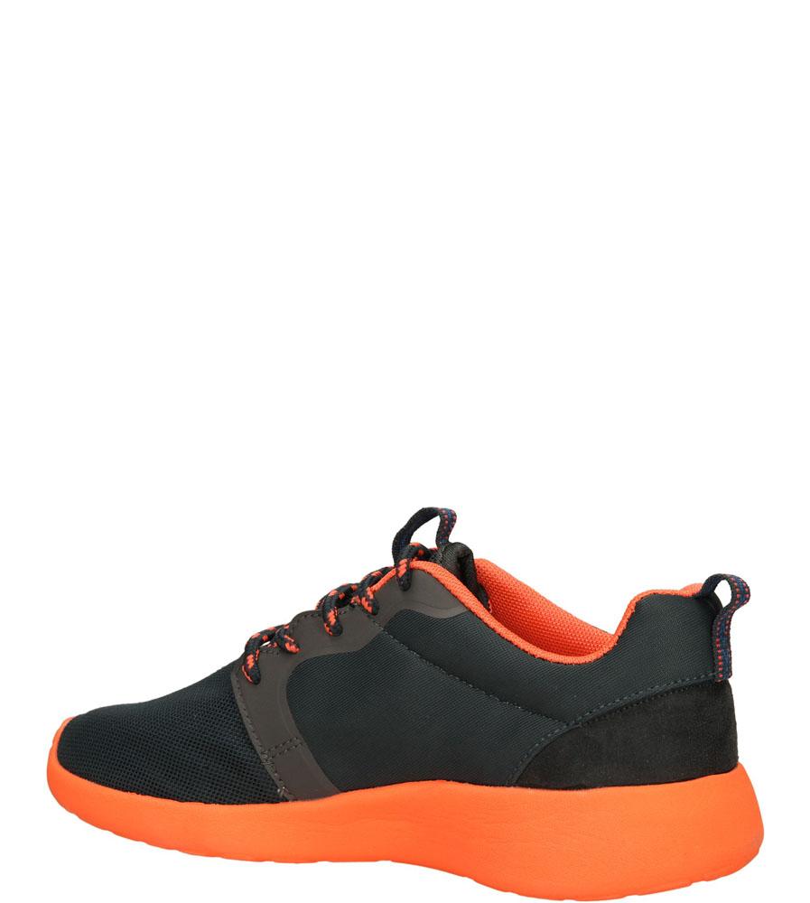 SPORTOWE CASU 140901 kolor grafitowy, pomarańczowy