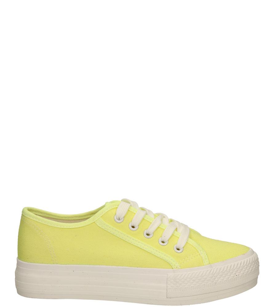 Damskie CREEPERSY CASU KAYLA-01 żółty;;