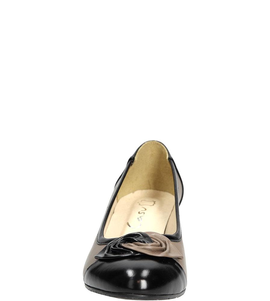 CZÓŁENKA CASU 187 kolor cappucino, czarny