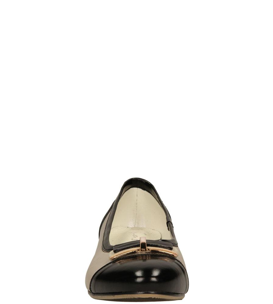 Damskie BALERINY CASU 181 beżowy;czarny;