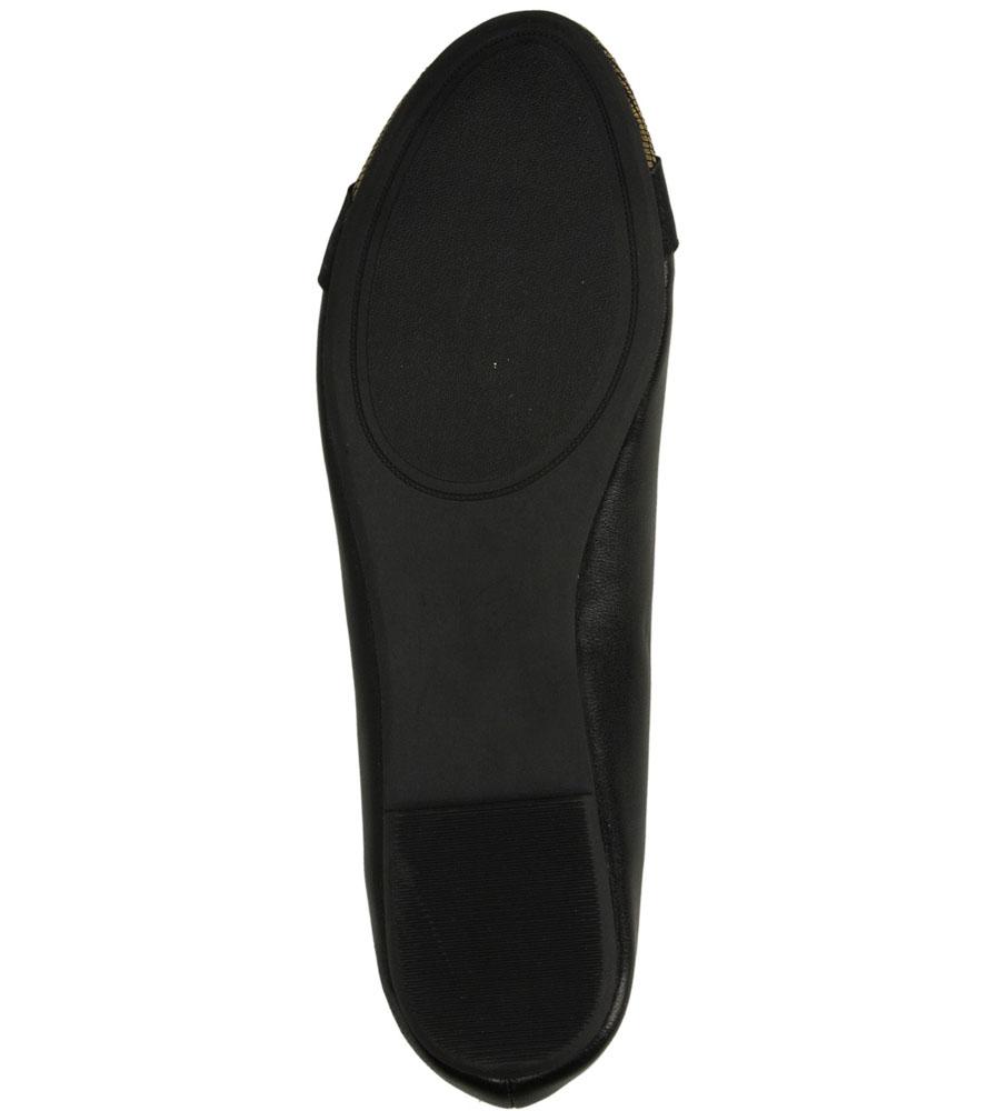 Damskie BALERINY CASU S15-F-LP-07- czarny;złoty;