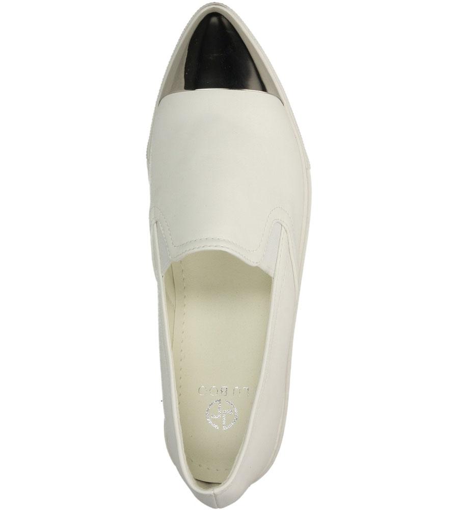 Damskie TRAMPKI LU BOO 581-1 biały;srebrny;