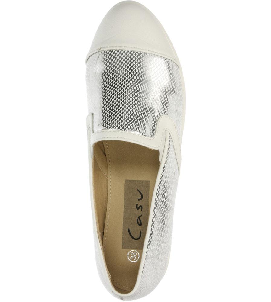 Damskie CREEPERSY CASU 88-1 biały;srebrny;
