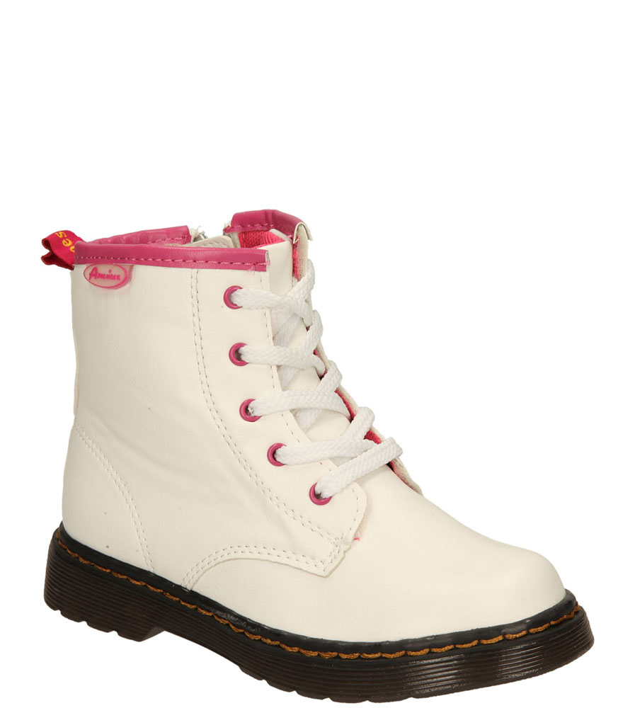 Dziecięce TRZEWIKI AMERICAN G-C14072-A1 biały;różowy;