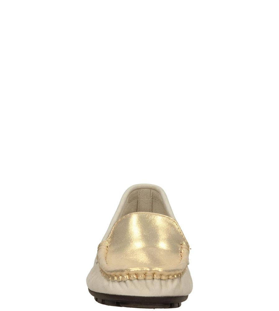Damskie MOKASYNY NESSI 62605 beżowy;złoty;