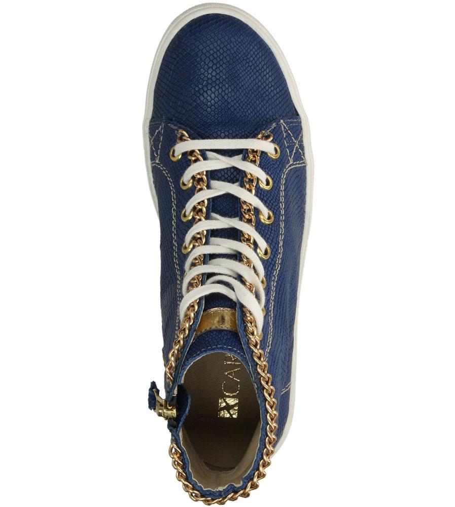 Damskie TRAMPKI CARINII B2757 niebieski;;