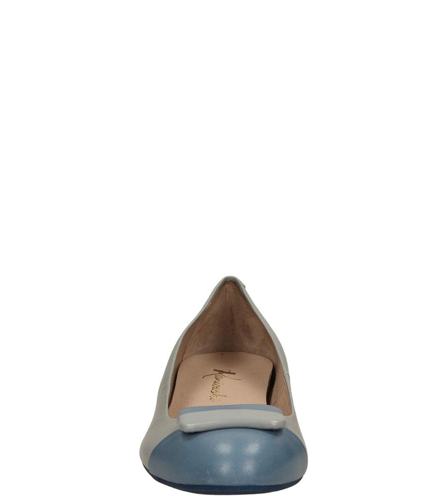 Damskie BALERINY KANIOWSKI K-1952 szary;niebieski;
