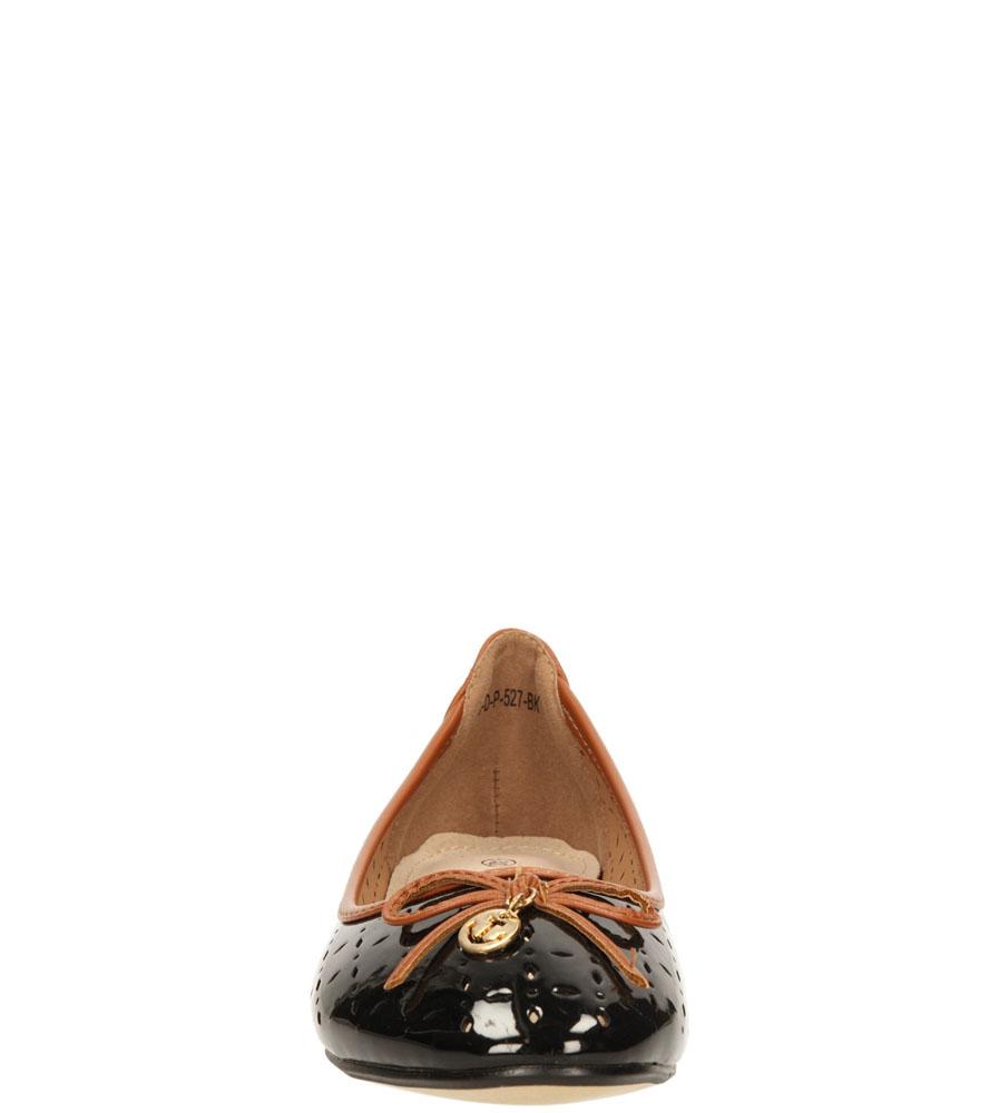 Damskie BALERINY VINCEZA R15-D-P-527- czarny;brązowy;