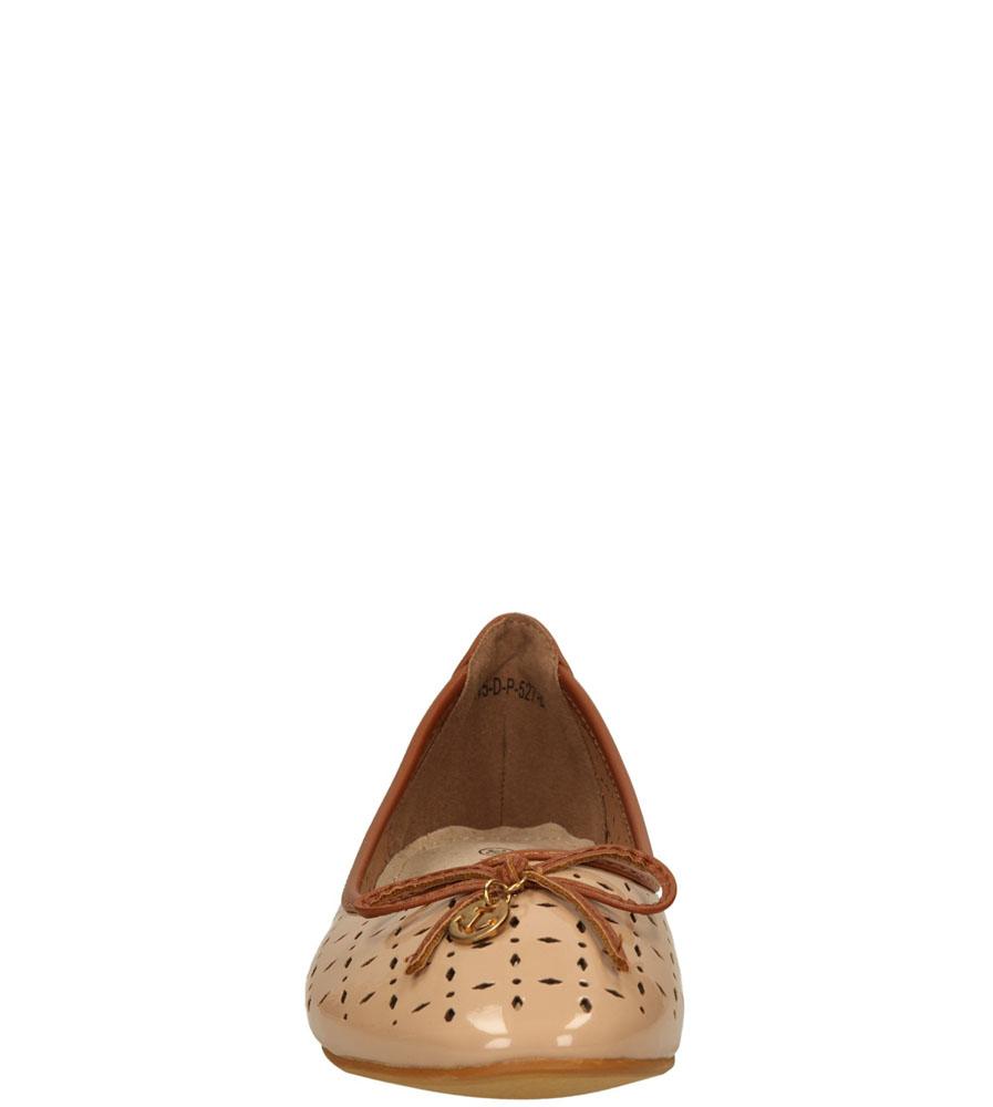 Damskie BALERINY VINCEZA R15-D-P-527- beżowy;brązowy;