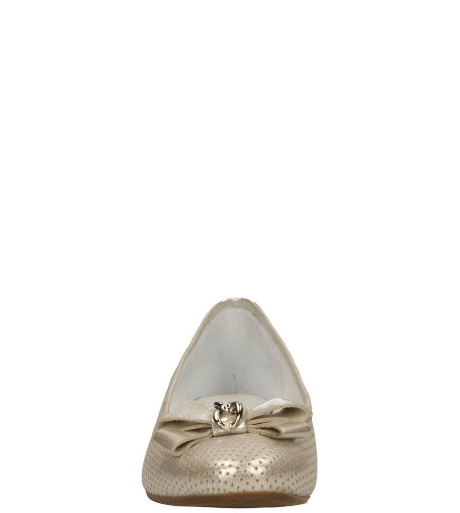 Damskie BALERINY EKSBUT 25-3411 srebrny;;