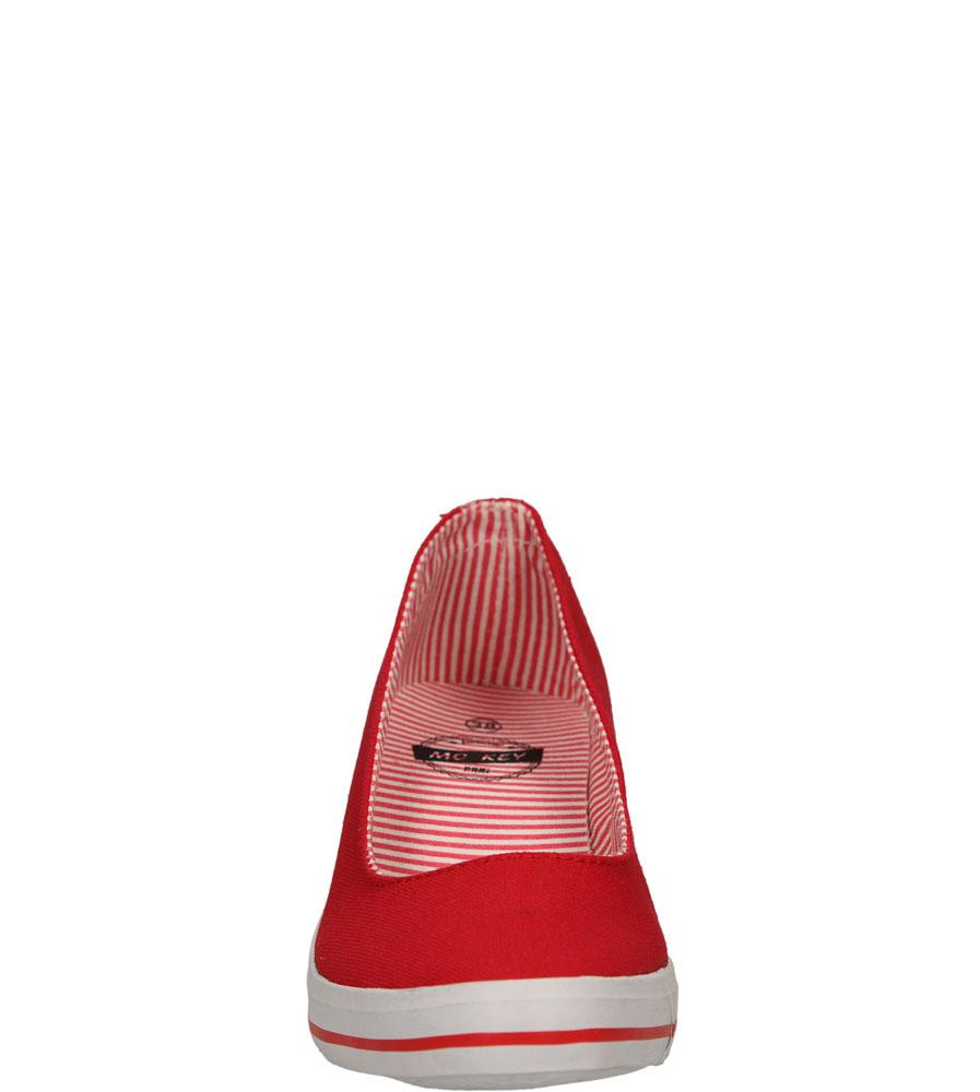 Damskie TRAMPKI MCKEY R15-D-TN-620 czerwony;;