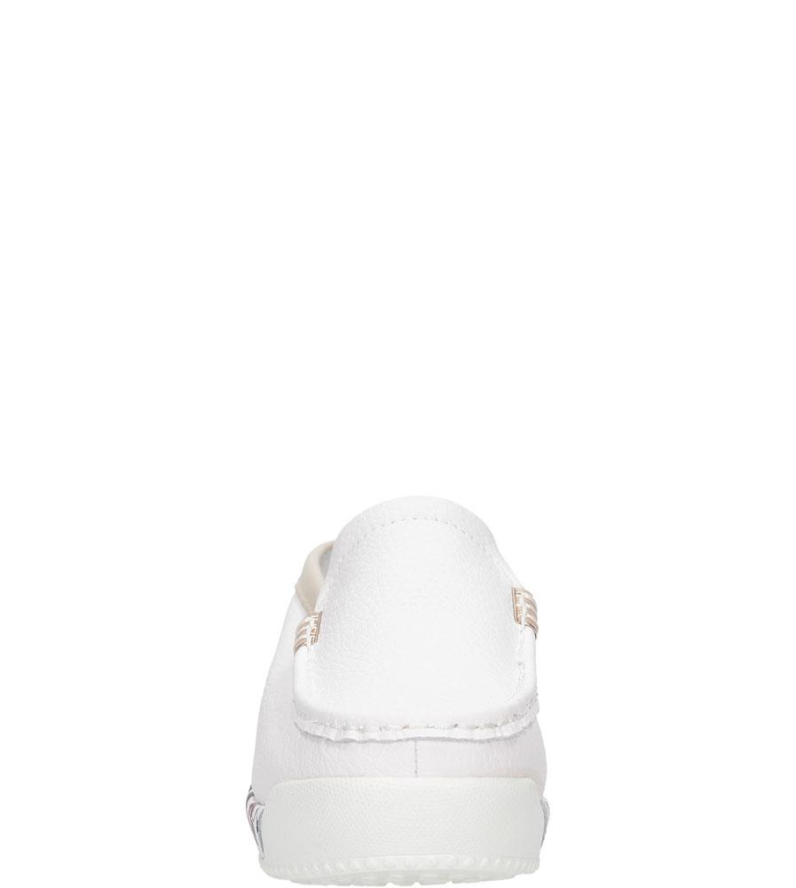 KLAPKI LANQIER 36C1573 kolor beżowy, biały