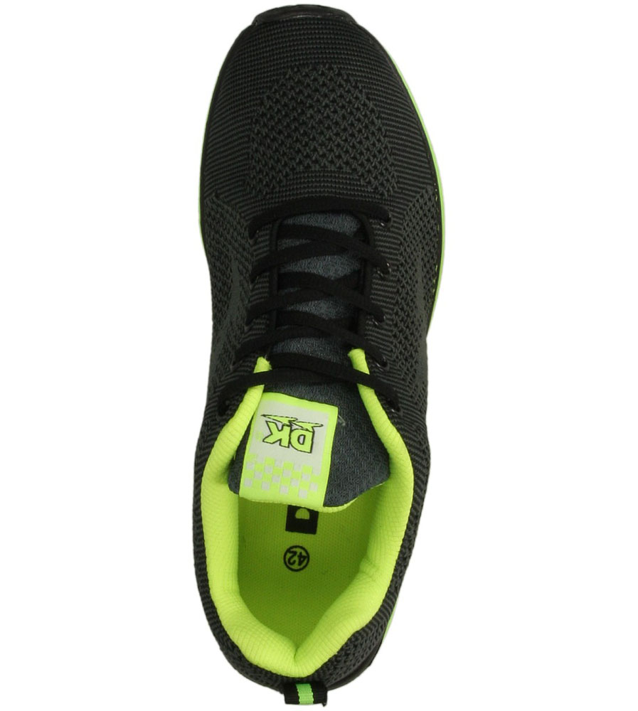SPORTOWE DK GT-10123 kolor czarny, limonkowy