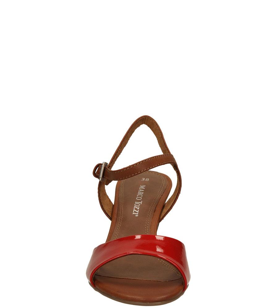 Damskie SANDAŁY MARCO TOZZI 2-28324-24 czerwony;brązowy;