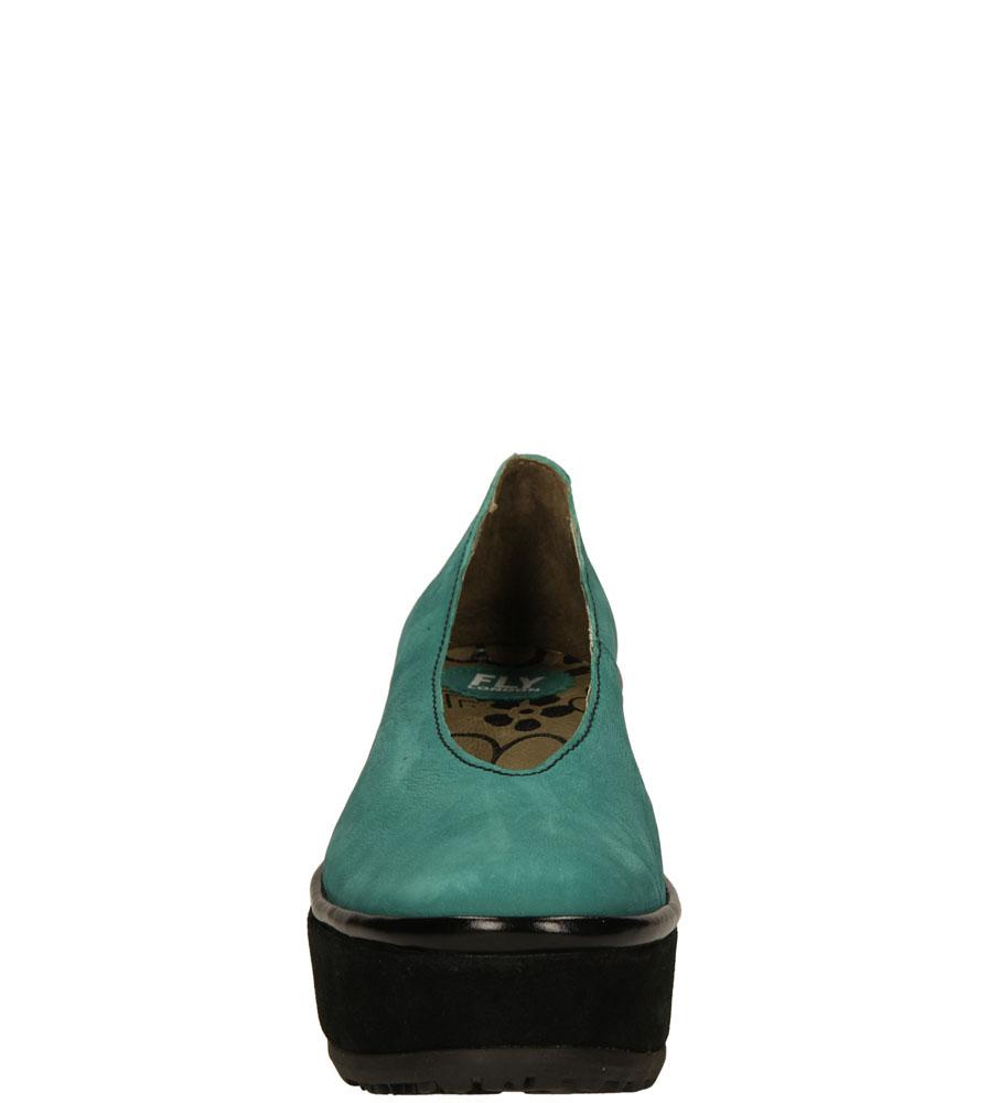 Damskie PÓŁBUTY FLY LONDON P50041802 zielony;czarny;