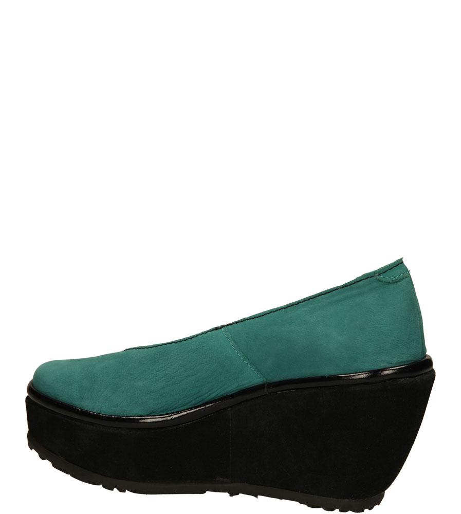 PÓŁBUTY FLY LONDON P50041802 kolor czarny, zielony