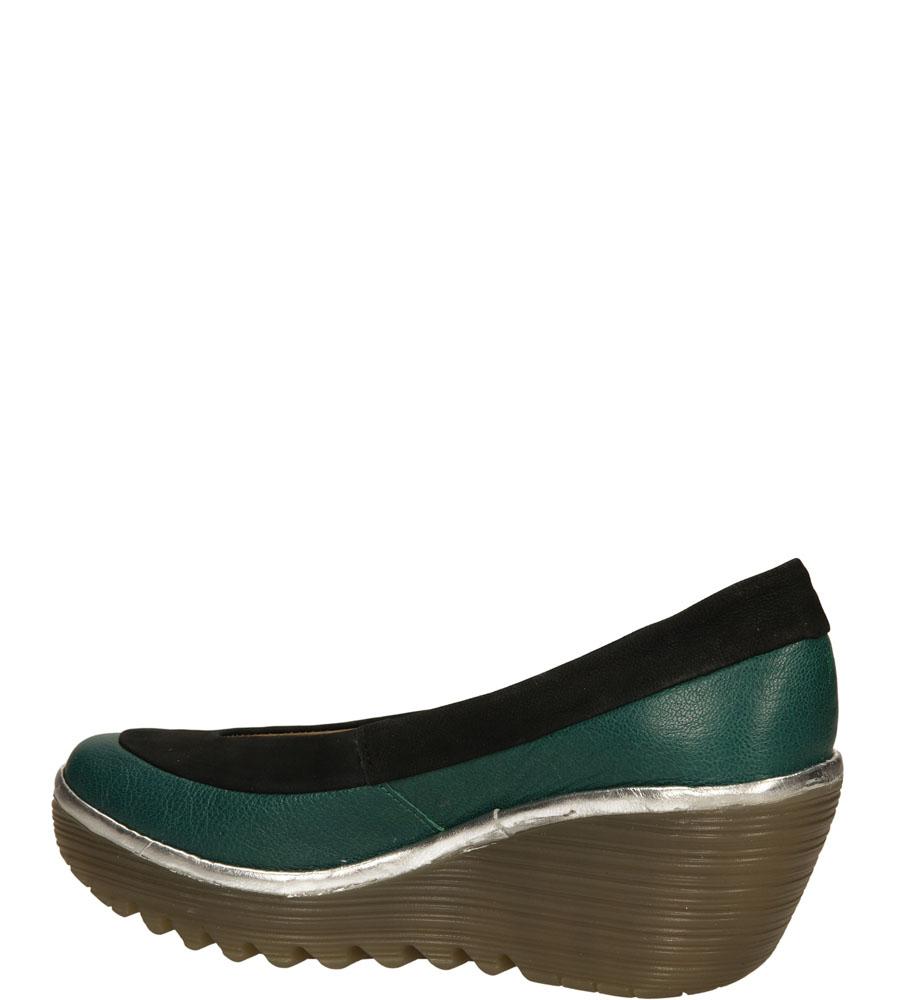 Damskie PÓŁBUTY FLY LONDON P50033505 zielony;czarny;srebrny