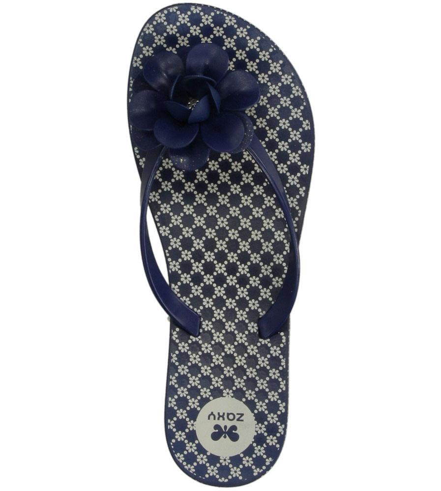 MELISKI ZAXY 81644 FLOWERS FEM kolor ciemny niebieski