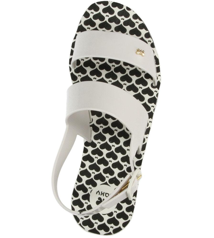 MELISKI ZAXY 81645 ORIGAMI SANDAL FEM kolor biały