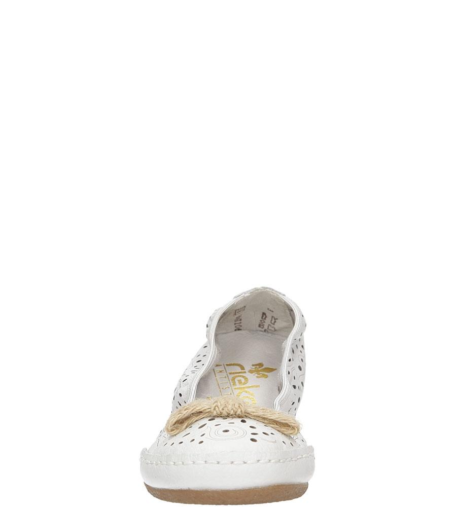 Damskie Baleriny ażurowe Rieker 41456-81 biały;;