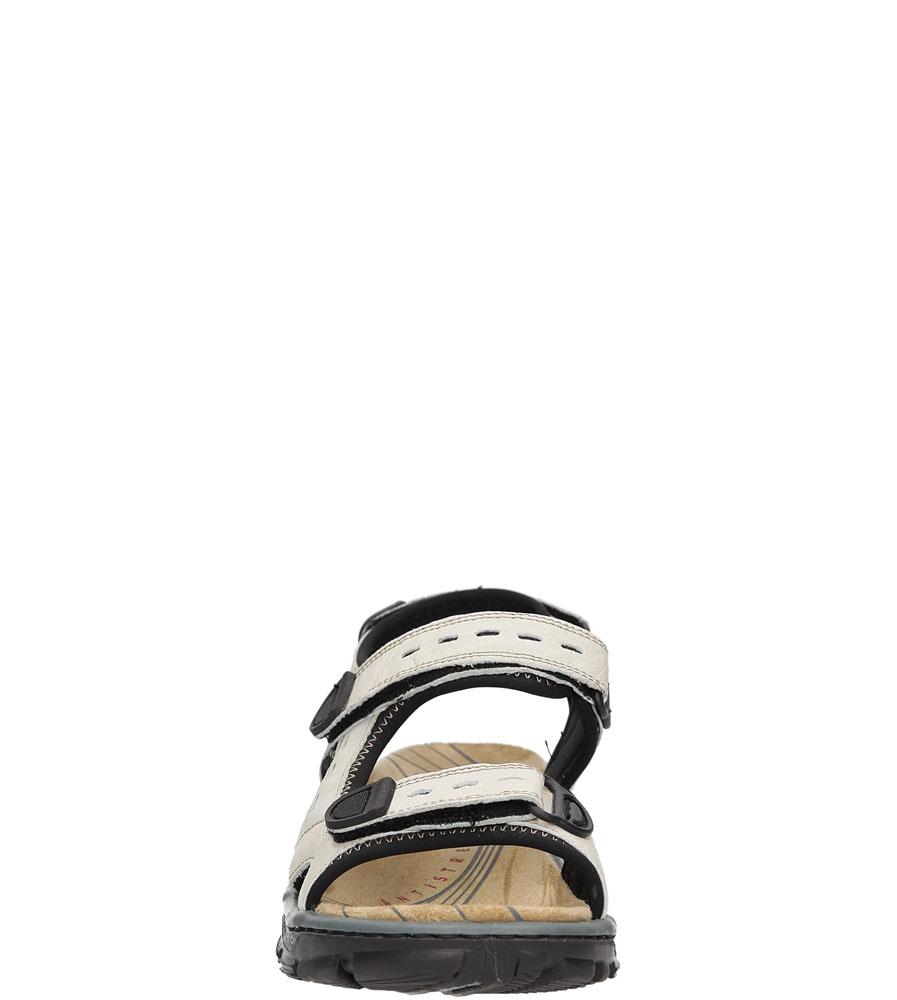 Sandały Rieker 68872-60 kolor jasny beżowy