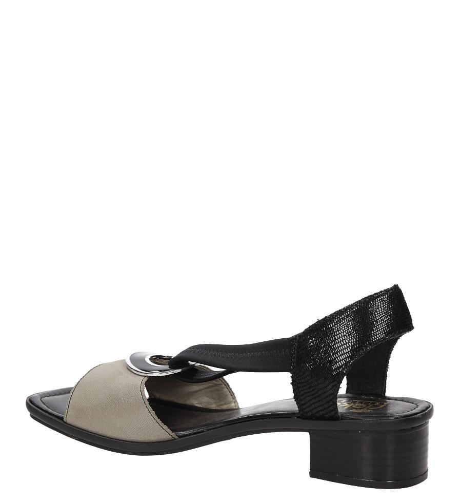 Sandały Rieker 62689 kolor beżowy, czarny