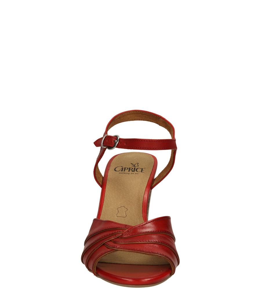 Damskie SANDAŁY CAPRICE 9-28300-24 czerwony;;