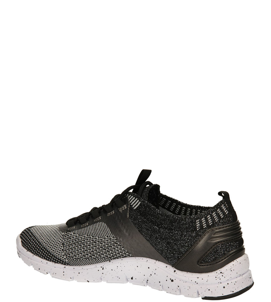 SPORTOWE BRONX 65262-E kolor biały, czarny, srebrny