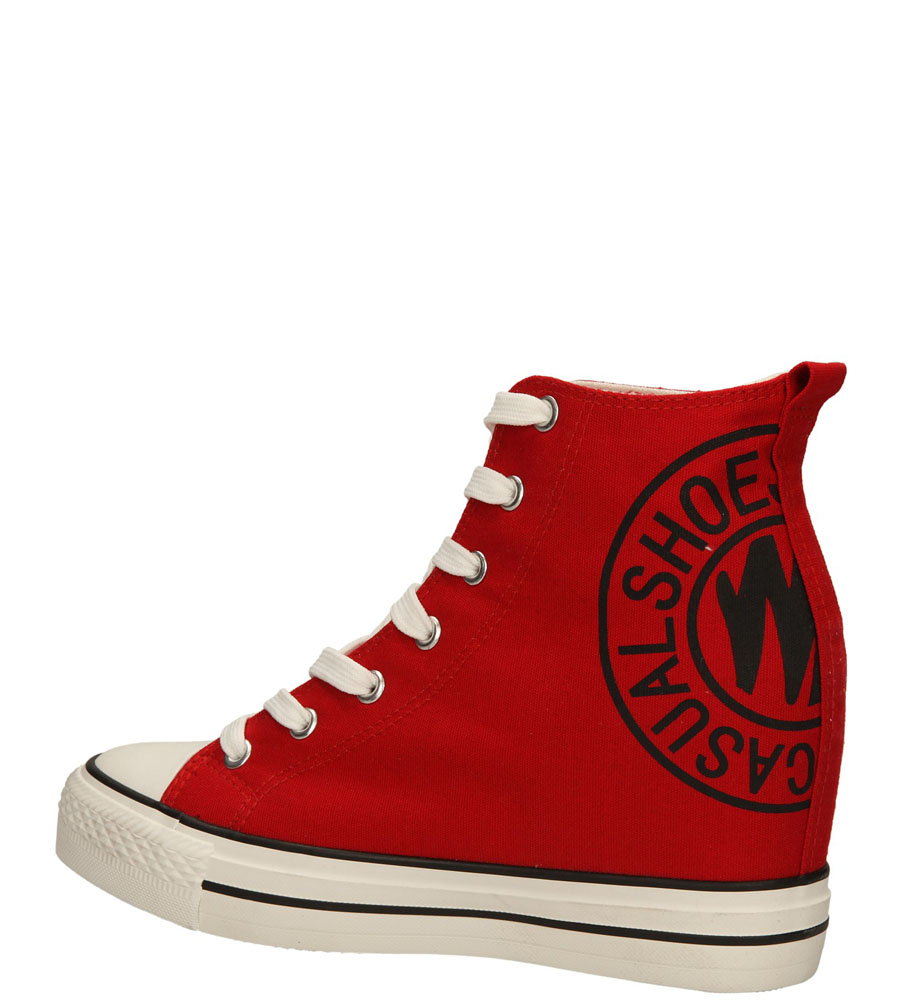 Damskie SNEAKERSY CASU FC-1 czerwony;;