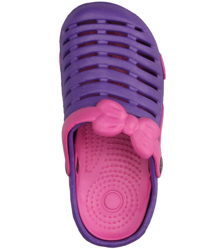 Dziecięce KLAPKI AMERICAN NH-S6002 fioletowy;różowy;