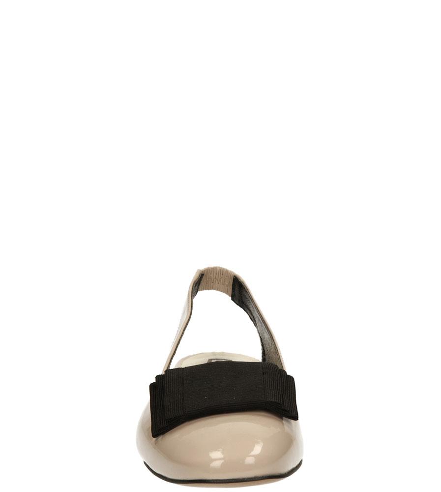 Damskie BALERINY NESSI 62405 beżowy;;