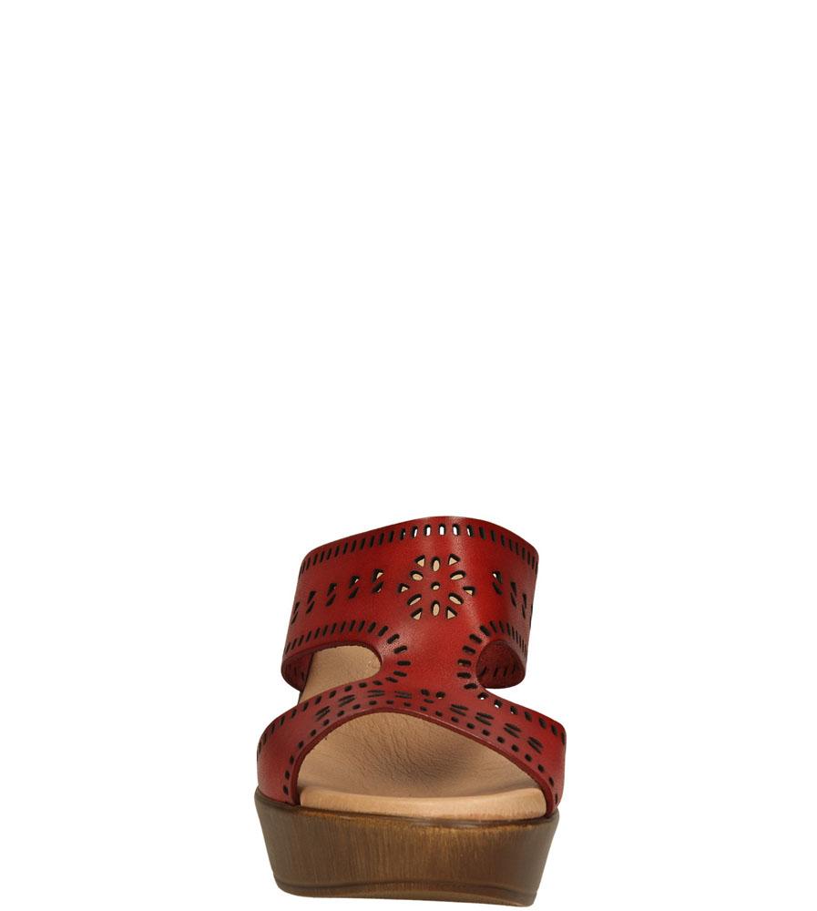 Damskie KLAPKI EVA FRUTOS 5746 czerwony;;