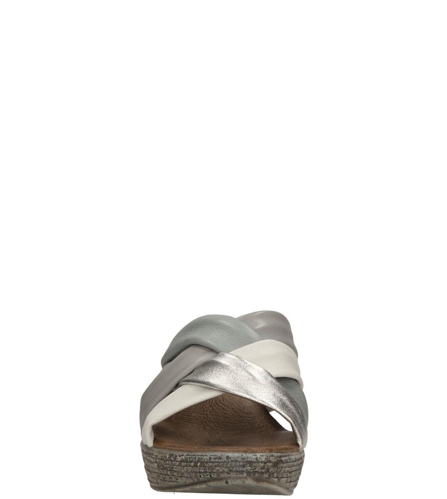 Damskie KLAPKI TAMARIS 1-27231-24 szary;biały;srebrny