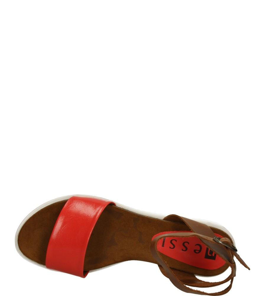 Damskie SANDAŁY NESSI 63905 brązowy;czerwony;