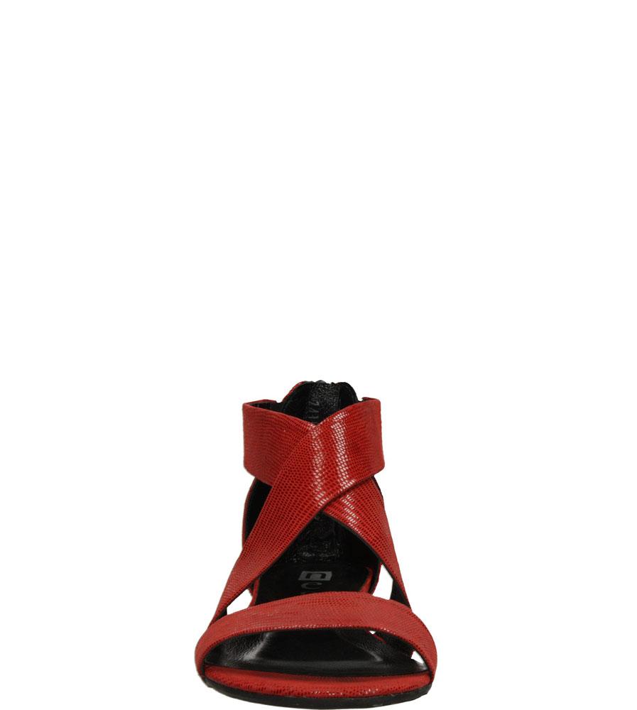 Damskie SANDAŁY NESSI 24101 czerwony;;