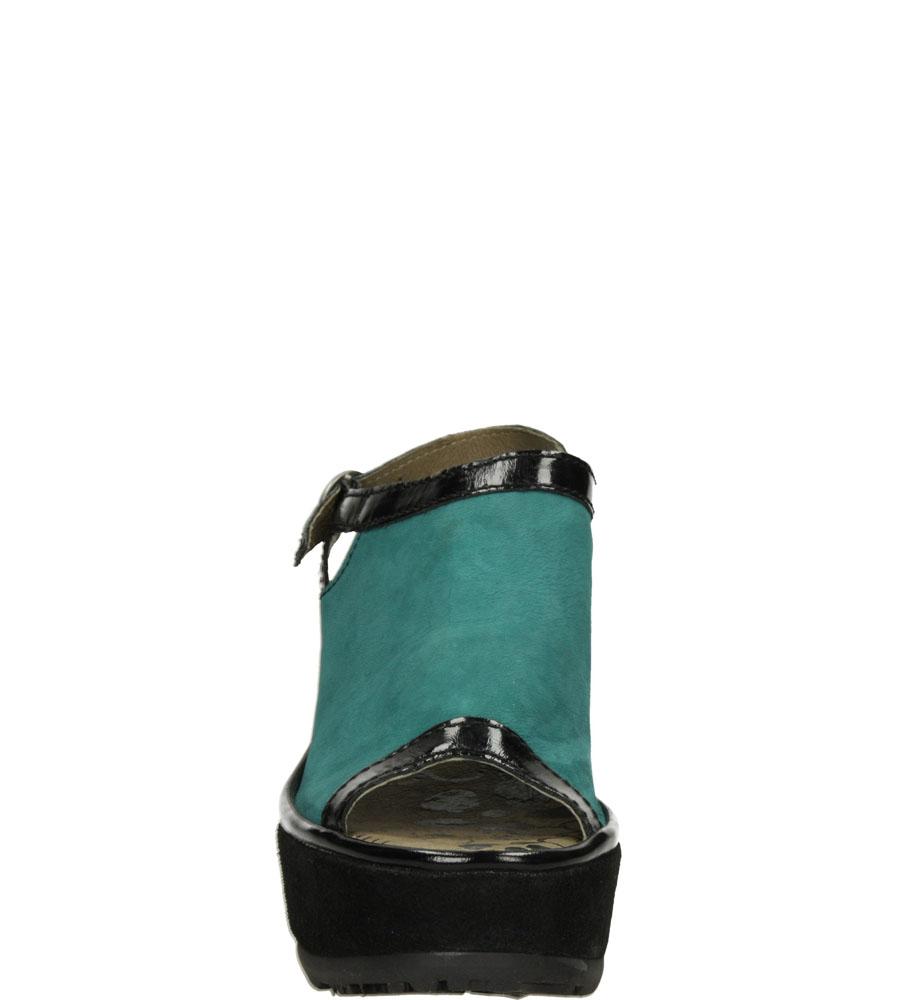 Damskie SANDAŁY FLY LONDON P50052800 zielony;czarny;