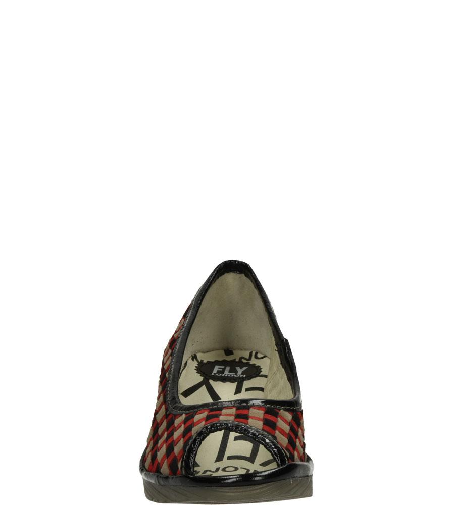 Damskie PÓŁBUTY FLY LONDON P50055100 czerwony;szary;czarny