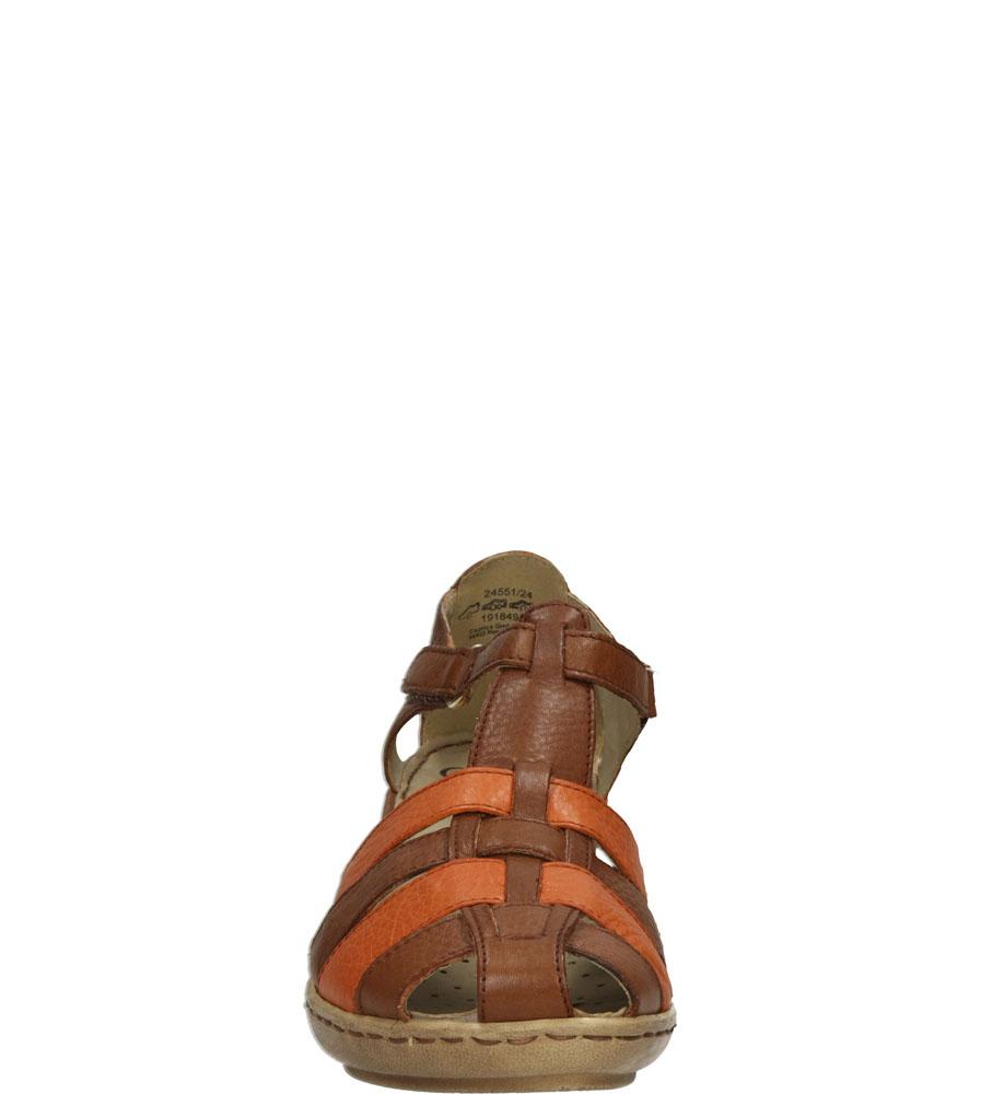 Damskie SANDAŁY CAPRICE 9-24551-24 brązowy;pomarańczowy;