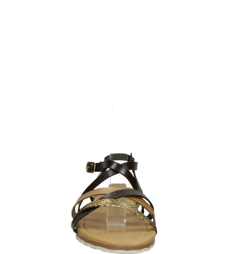 Damskie SANDAŁY VINCEZA R15-D-S-588 brązowy;;