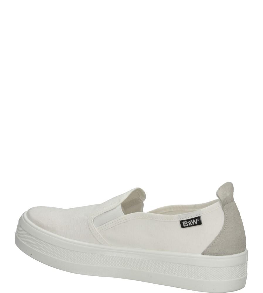 Damskie CREEPERSY B&W 14004 biały;;