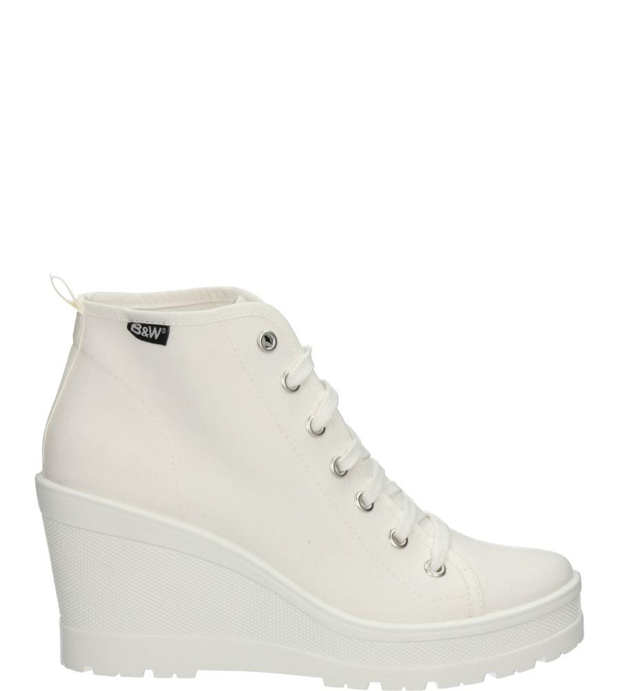 Damskie TRAMPKI B&W 14213 biały;;