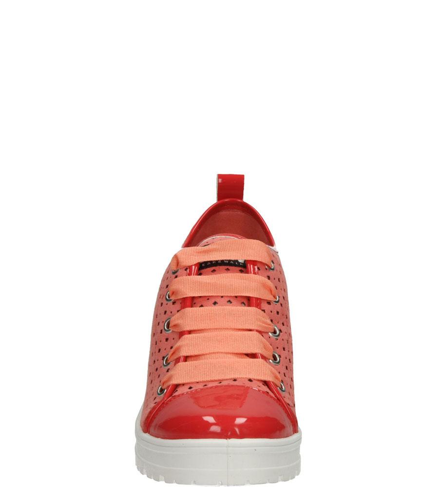 Damskie TRAMPKI B&W 14101 czerwony;;