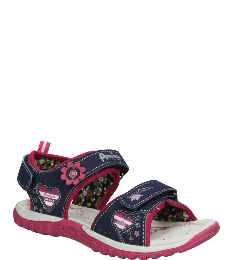 Dziecięce SANDAŁY AMERICAN K13595 niebieski;różowy;