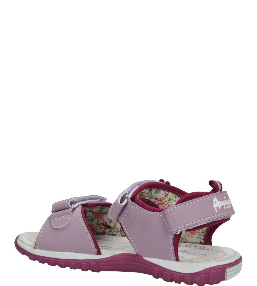 SANDAŁY AMERICAN K13595 kolor fioletowy