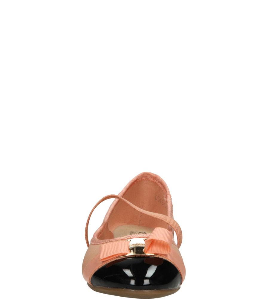 Dziecięce BALERINY D518 różowy;czarny;