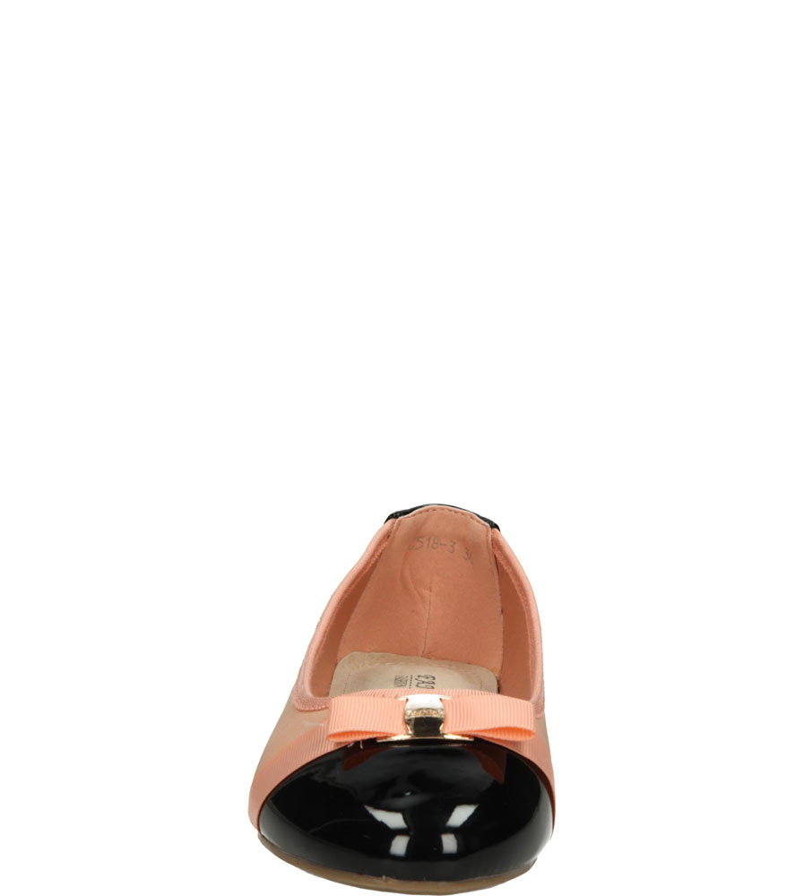 Dziecięce BALERINY C518 różowy;czarny;