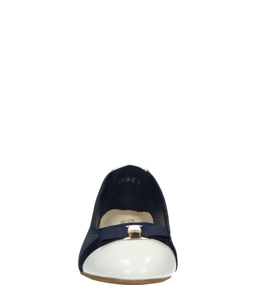 Dziecięce BALERINY C518 niebieski;biały;